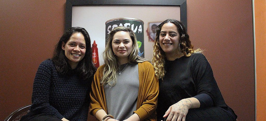 2016 CNZ Pasifika Internship recipients (left to right) Catherine Hunt, Jasmine Te Hira and Bonni Tamati