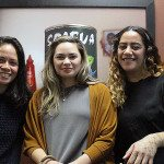2016 CNZ Pasifika Internship recipients (left to right) Catherine Hunt. Jasmine Te Hira and Bonni Tamati