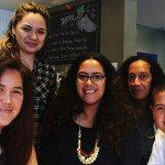 CNZ Pasifika Internship recipients (left to right) Jodi Meadows, Jasmine Te Hira, Bonni Tamati, Joy Vaele and Faith Wilson.